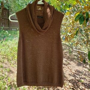 Josephine Chaus Brown cowl neck sweater